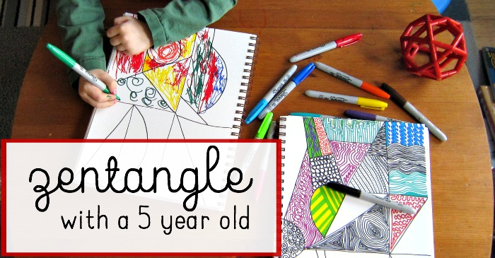 Zentangles With A 5 Year Old The Best Art Project For Kids