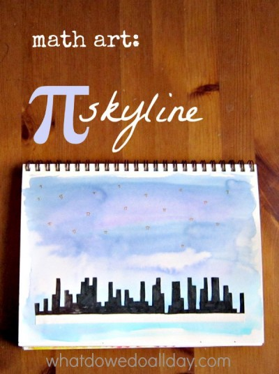 Math Art for Kids: Pi Skyline Friends With Kids Poster
