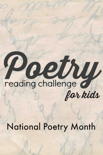 Join the weekly poetry challenge for kids and parents. Perfect way to participate in National Poetry Month.