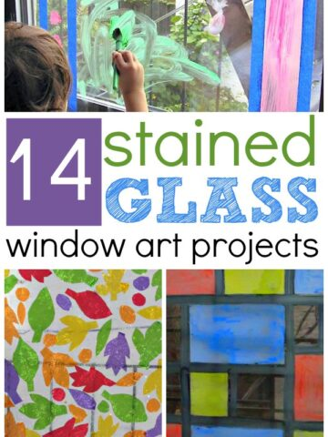 14 stained glass window art projects for kids. No Sticky Paper Required!