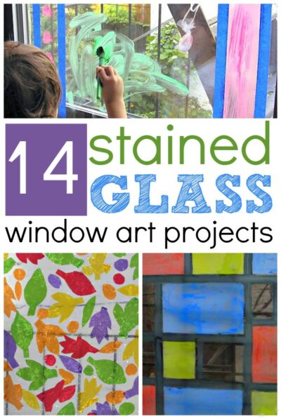 14 stained glass window projects for kids. No Sticky Paper Required!