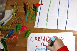 Kids can practice writing with categorization activities