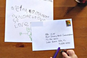 Help reluctant kids practice their writing. Make it fun by writing a letter to a favorite Disney character.