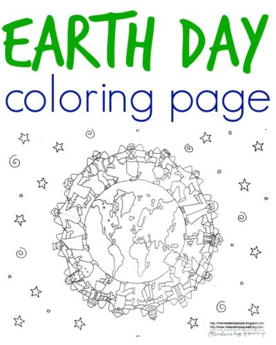 multicultural earth coloring page - Free Earth Day Coloring Pages