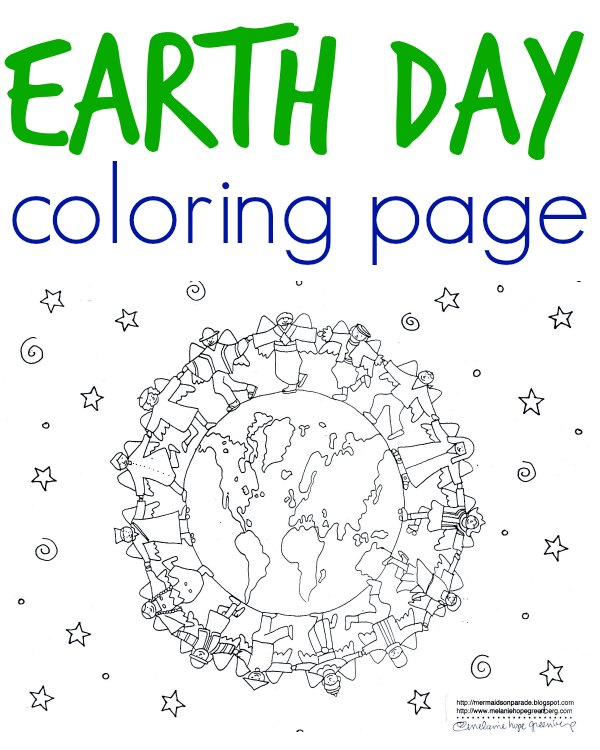 Multicultural Earth Coloring Page