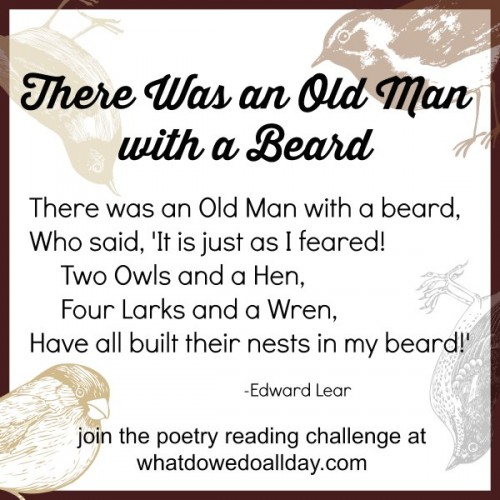 Edward lear poem for the Poetry Challenge at whatdowedoallday.com