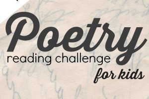 Poetry challenge for kids during National Poetry Month. Learn to love poetry.