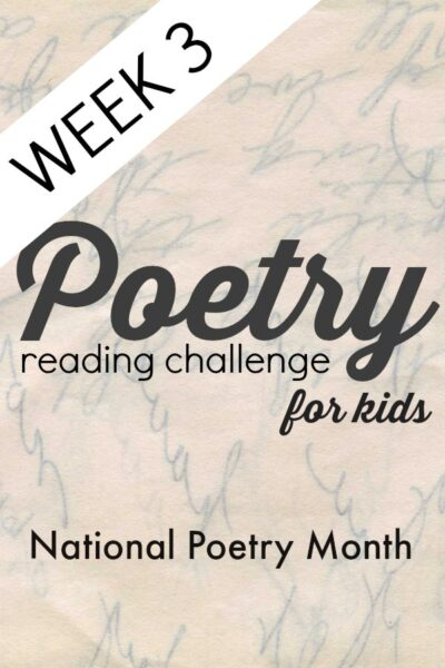 Poetry Challenge for kids to get everyone reading poems!
