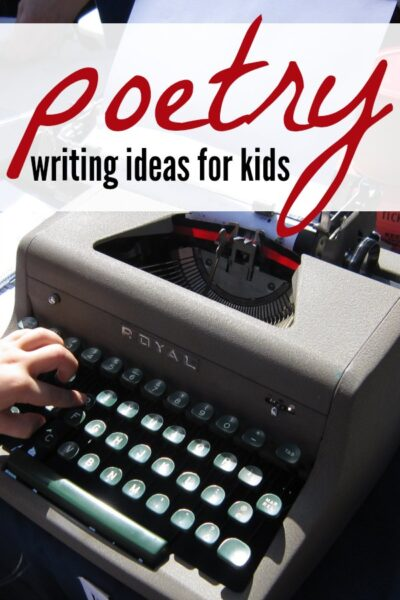 14 creative poetry writing ideas for kids to write poems!