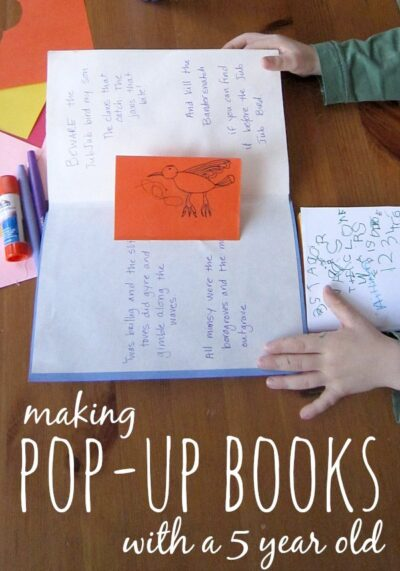 How to make a pop up book with your kids. This is actually an easy project!