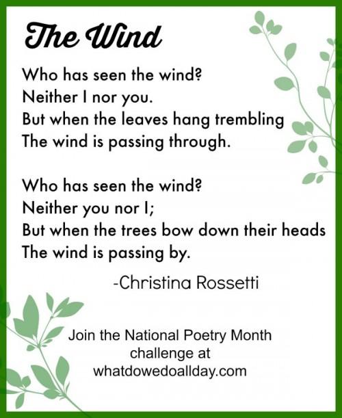 Poetry Challenge For Kids {Week 4}