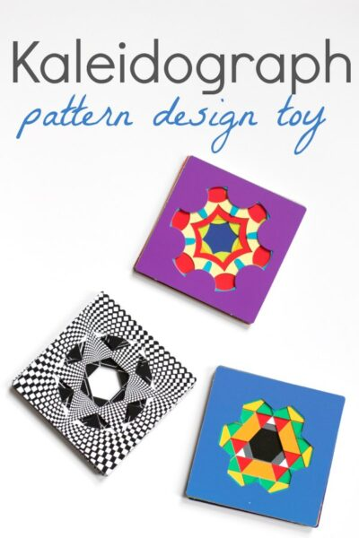 Kaleidograph design toy for math art play.