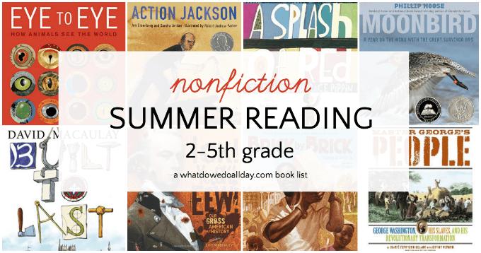 Nonfiction summer reading book list