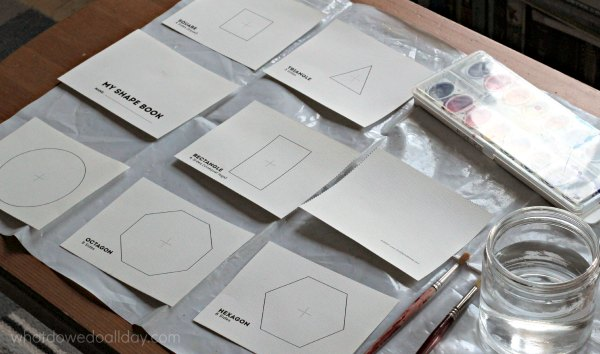 Make a shapes book project.