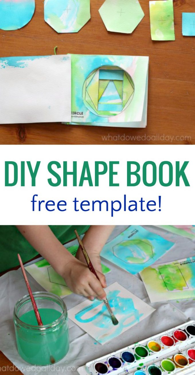 How to make a shape book for preschoolers so kids can learn geometry