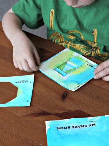 Make a shape book. A fun math art project.