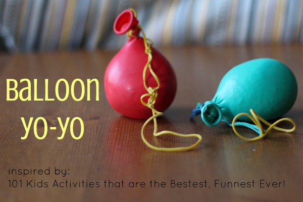 How to make a balloon YoYo.