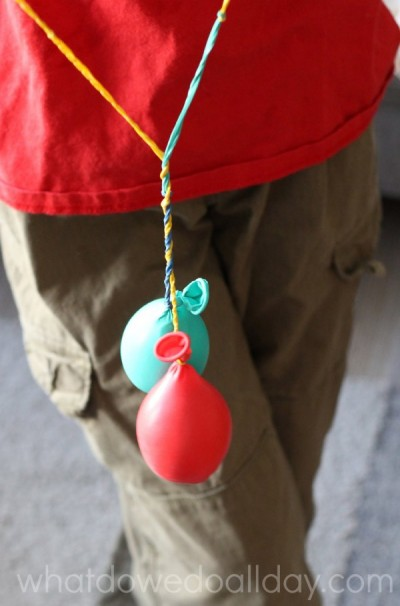 Balloon YoYos for indoor activities