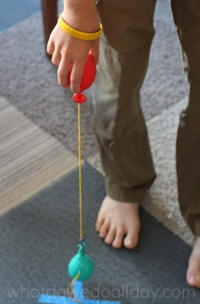 Kids love balloon yoyos