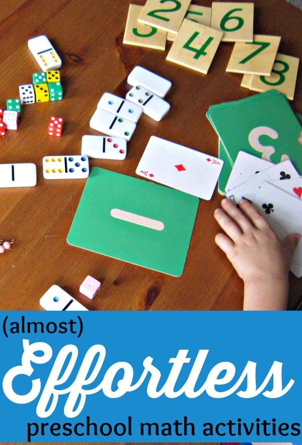 17 (Almost) Effortless Preschool Math Activities