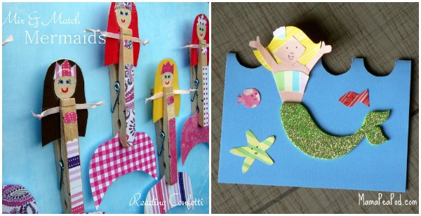 MollyMooCrafts Toilet Roll Crafts Hula Girl and Mermaid
