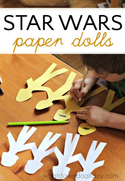 Star wars fans will love making clone trooper paper dolls