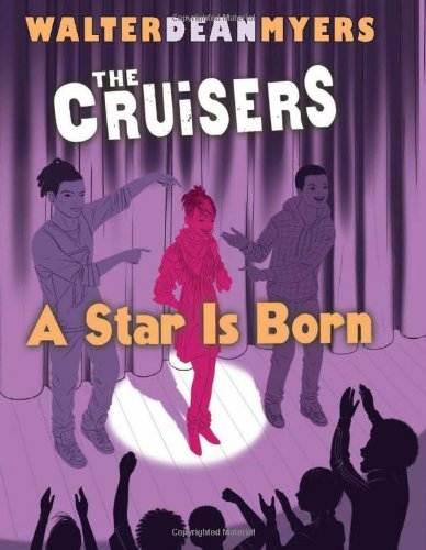 A Star is Born The Cruisers book cover with three teens on a purple stage