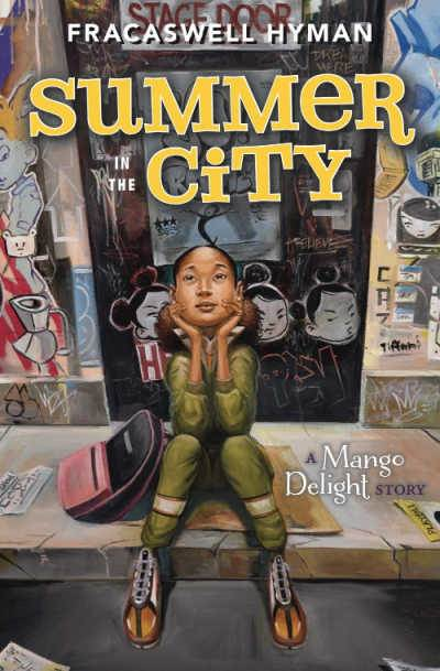 Summer in the City book cover with girl sitting on the sidewalk