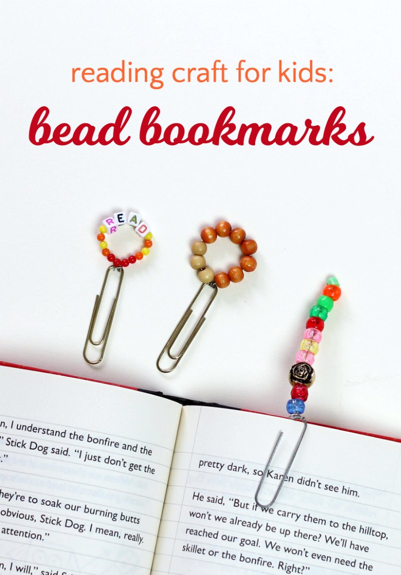 How to make mini bookmarks out of beads. Would be a perfect library craft for kids or an activity to promote literacy and reading.