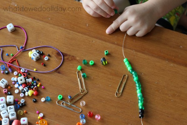 Make beaded paperclip bookmarks