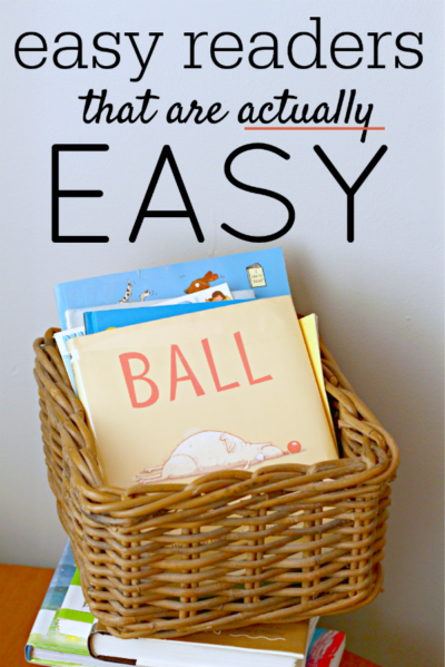 Easy reader books and series for kids learning to read. These are actually easy.