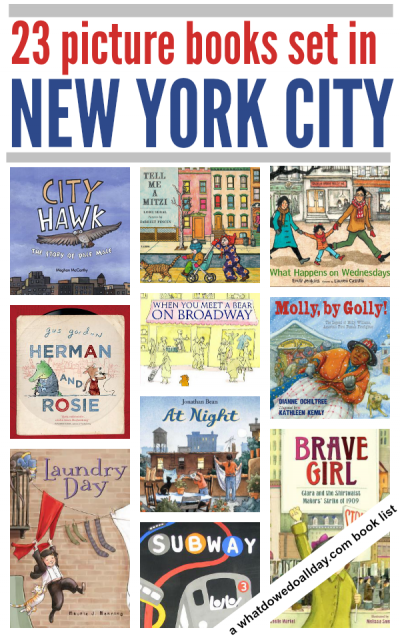 Children's books set in New York City. Click through for entire book list.