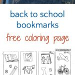 Back to School Bookmarks to Color