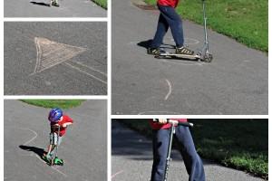 Gross Motor Activity: Scooter Slalom
