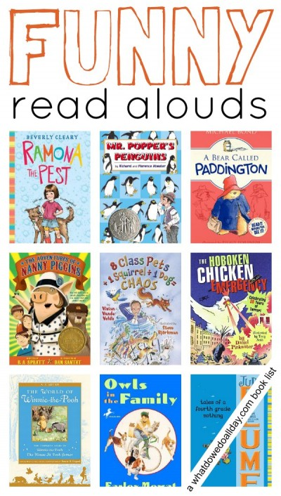 10 funny chapter books to read aloud to kids. Click through for the entire list.