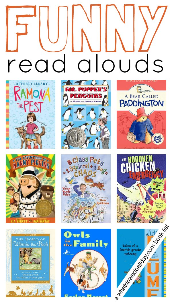 books funny aloud read alouds grade chapter children reading favorite 2nd loud titles second kid story hilariously through fun laugh