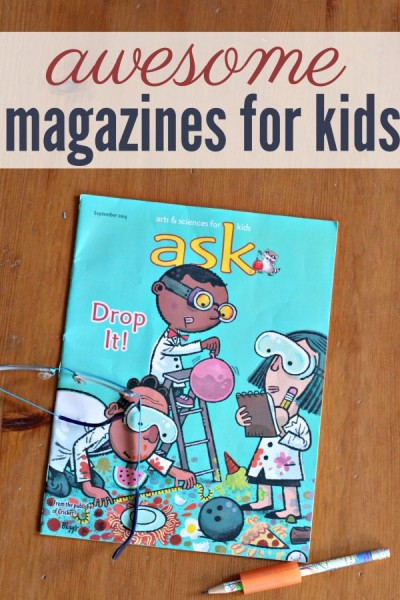 16 great magazines for kids. These make terrific gifts.