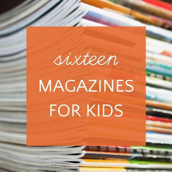 stack of magazines for kids