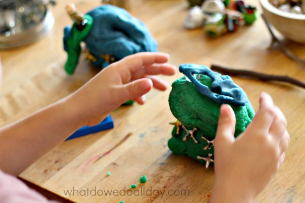 Play dough ideas for fine motor work.