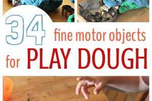 Play dough ideas and activities for fine motor work.