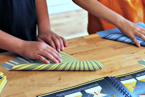 Folding paper airplanes as a STEM activity