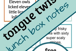 Tongue twisters help with phonemic awareness. A silly way to include literacy at lunchtime!