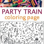 Train Coloring Page {Perfect for Parties}