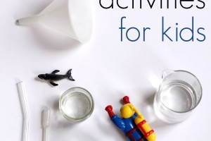 Indoor water play activities for kids.