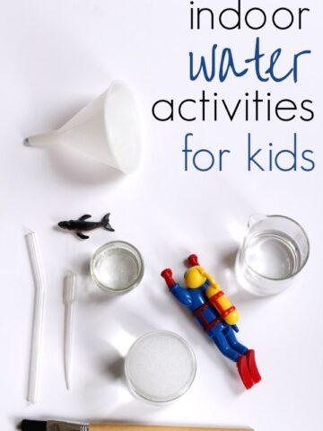 Indoor water play activities for kids.