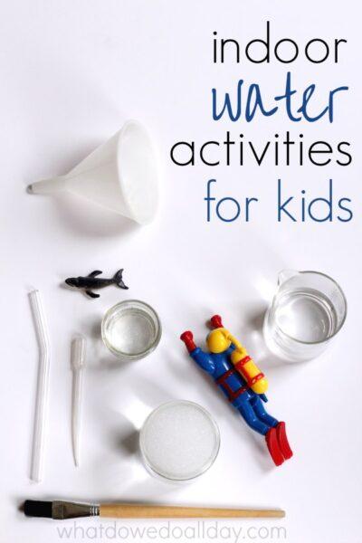 16 indoor water play ideas for kids for Indoor play activities