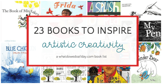 Picture books about art to inspire creativity in kids!