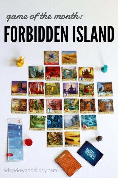 Forbidden Island is a fun family cooperative board game.