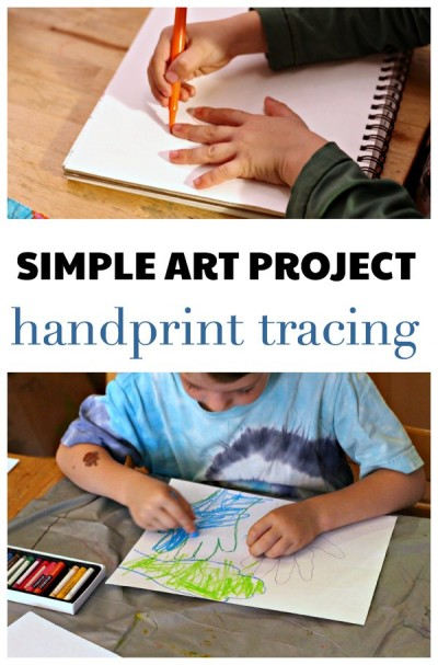 Easy art project for kids, even if they say they don't like art!