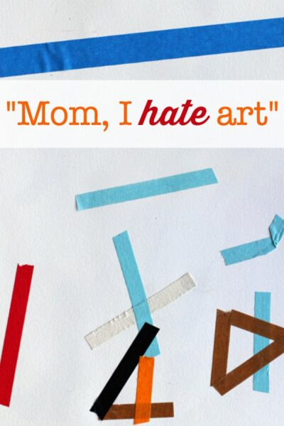 "Project for the child who says ""I hate art"""